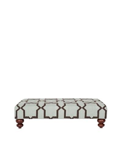 Safavieh Moorish Tile Dhurrie Ottoman, Light Blue/Brown