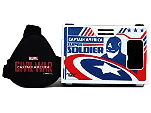 Marvel Civil War (Captain America) Craziest Action Hero Plastic 6 Inch Virtual Reality Viewer (VR Headset) for Xiaomi, Google Nexus, Apple iPhones from AuraVR Inspired by Google Cardboard