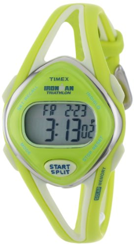 Timex Women's T5K656 Ironman Sleek 50-Lap Lime Resin Strap Watch