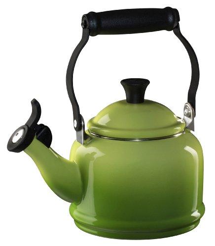 Le Creuset Enameled Steel Demi Tea Kettle, 1-1/4-Quart, Palm