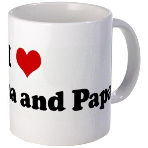 I Love My Nana And Papa Mug Mug By Cafepress