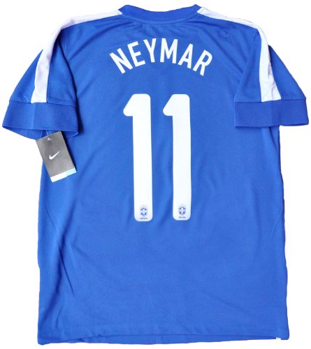 NEYMAR#11 BRAZIL AWAY SOCCER JERSEY FOOTBALL SHIRT (L)