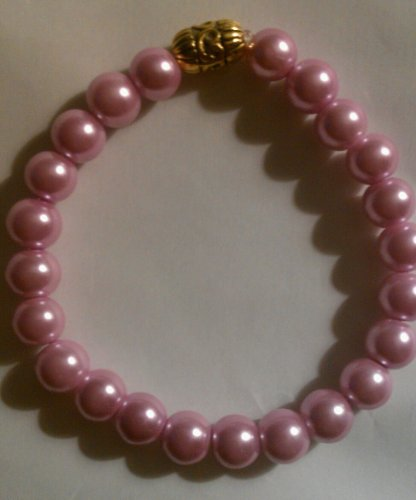 Bracelet - Pink Pearl - Size 7.5 Inches Adult Regular