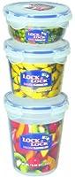 Lock & Lock HPL313S3 Lot de boîtes rondes multifonction