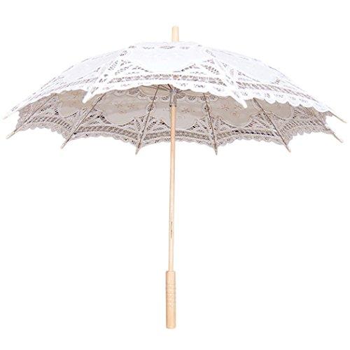 Leegoal Handmade Umbrellas for Bridal Bridesmaid Wedding Decoration, Beige 3