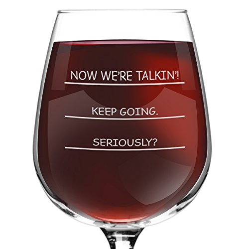 Seriously? I need more wine funny wine glass, 12.75 ounce, humorous, cool present idea for women, mom, daughter, wife, her, sister, coworker, or best friend (Please Make Me Lesbian compare prices)