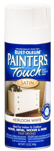 Rust-Oleum 240254 Painter's Touch Satin Spray, Heirloom White