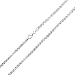 Bling Jewelry Box Link Sterling Silver Mens Chain 300 Gauge