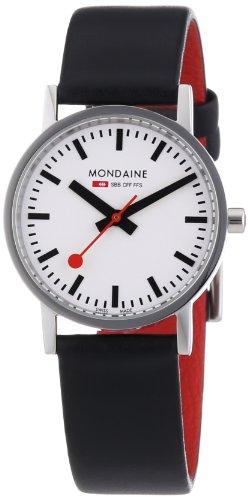 Mondaine - A658.30323.11SBB - Montre Homme - Quartz Analogique - Bracelet Cuir Noir