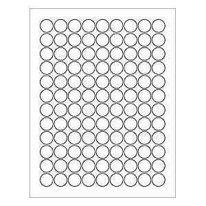 3 4 inch round labels