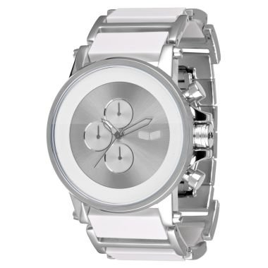 Vestal Men's PLA016 Plexi Minimalist White Acetate Silver Watch