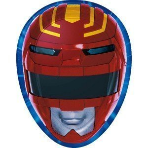 MIGHTY MORPHIN POWER RANGERS 9 Inch Party Plates (8 Count)