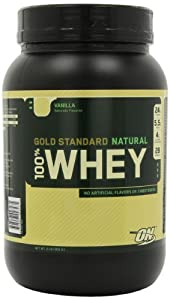 Optimum Nutrition 100% Whey Gold Standard Natural Whey, Vanilla, 2 Pound