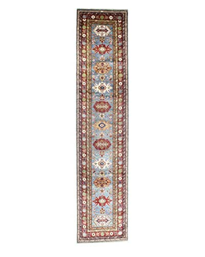 Bashian Rugs Hand-Knotted Pakistani Kazak Rug, Light Blue, 2' 8 x 12' Runner