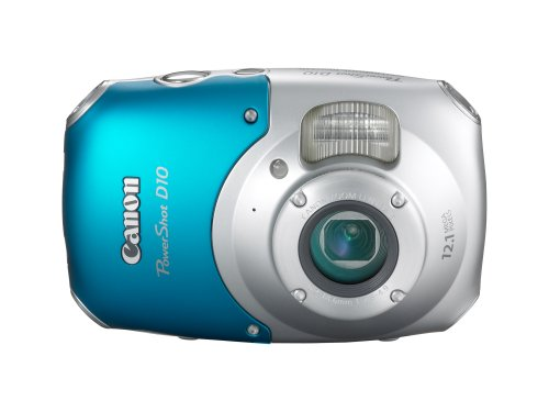 Canon PowerShot D10 12.1 MP Waterproof Digital Camera with 3x Optical Image Stabilized Zoom and 2.5-inch LCD (Blue/Silver)