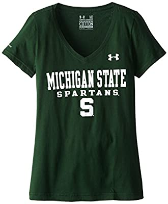 NCAA Under Armour Women's Charged Cotton V-Neck Tee
