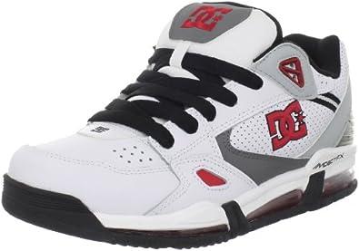 DC Men's Versaflex Skate Shoe,White/Black/Athletic Red,6.5 M US