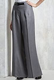 Limited Collection Pure Linen Wide Leg Belted Trousers