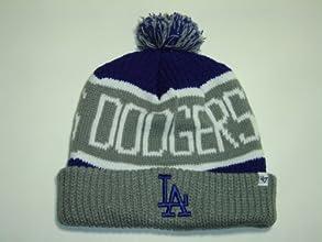 47 BRAND LA Dodgers Calgary Pom Top Cuff Knit Ski Cap Hat Beanie