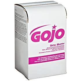 GOJO 2152-08 NXT Spa Bath Body and Hair Shampoo, 1000 mL (Case of 8)