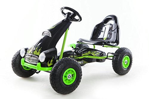 Kids-Pedal-Go-Kart-Ride-on-Car-Racing-Style-Green