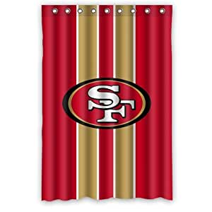 Custom nfl san francisco 49ers stripes for 49ers bathroom decor