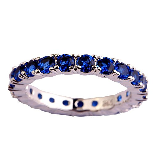 [Psiroy Women's 925 Sterling Silver 0.63cttw Sapphire Quartz Filled Ring] (Good Costumes For Two Best Friends)