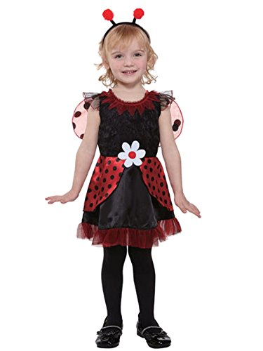 Totally Ghoul Toddler & Girls Lil Ladybug Fairy Costume with Dress & Headpiece