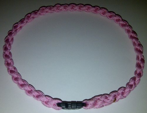 Paracord Survival Necklace Rose Pink (Large (22 inches))
