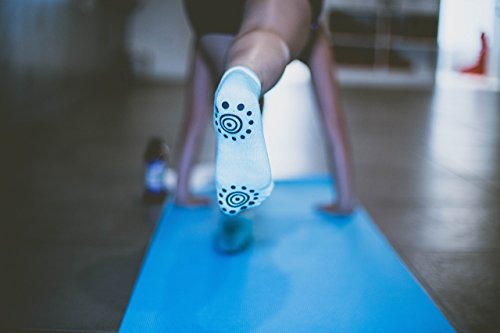 YogiSocks Pack of 6 Non Slip Skid Grip Yoga Socks Pilates Barre Bikram Hospital for Women