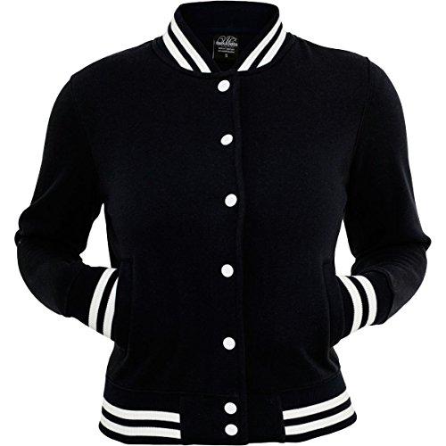 Urban Classics TB216 Ladies College Sweatjacket Giacca donna BLACK S