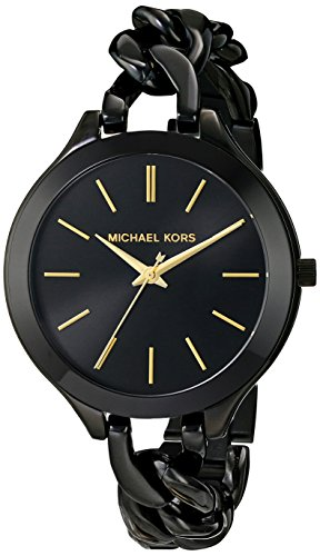 Michael Kors MK3317 42mm Black Steel Bracelet & Case Mineral Women's Watch