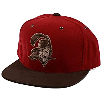 Mitchell & Ness Winter Suede Tampa Bay Buccaneers Red & Brown Strapback by Mitchell & Ness