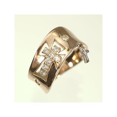 [キュートジュエリー]Cute jewerly ダイヤモンド 指輪 K18PG&WG ダイヤモンド0.2ct ピンキーリング 5