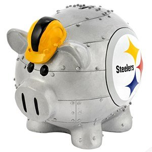 NFL Pittsburgh Steelers Resin Large Thematic Piggy Bank - 1