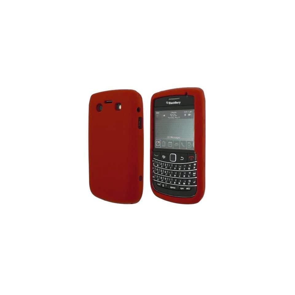 mobile palace  Red silicone case cover pouch holster for blackberry bold 9780