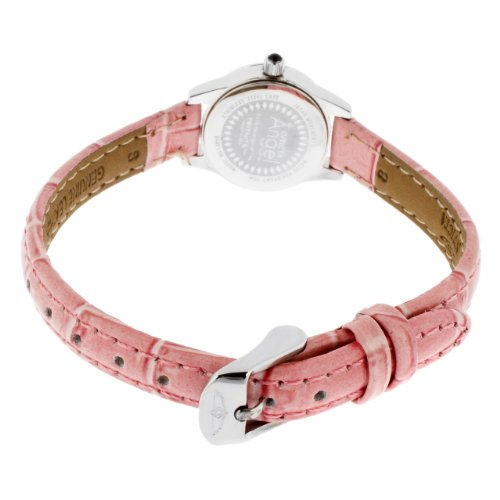 Женские наручные часы Invicta Women's 13659 Angel Pink Dial Crystal Accented Pink Leather Watch