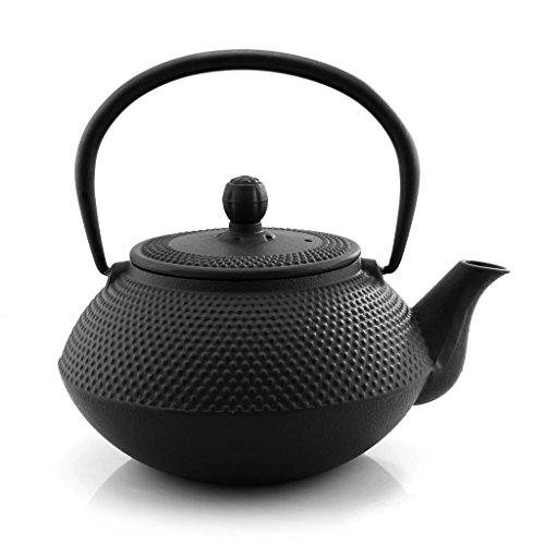 New 800Ml Black Hobnail Tetsubin Kettle * Cast Iron Tea Pot With Infuser Filter 0.8L