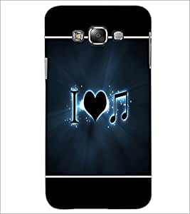PrintDhaba I Love Music D-1426 Back Case Cover for SAMSUNG GALAXY A7 (Multi-Coloured)