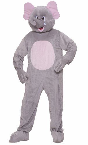 Forum Novelties Men's Ernie The Elephant Plush Mascot Costume, Gray, Standard