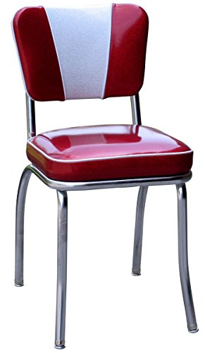 1950 Style Red Retro Kitchen Chair
