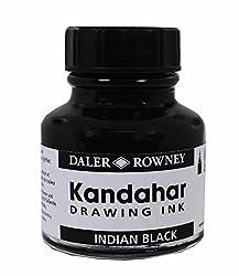 Daler-Rowney Kandahar Drawing Ink 28 ML Indian Black