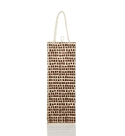Brown Spotted Bottle Jute Bag