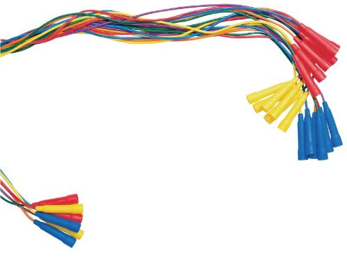 Sportime Color-Coded Vinyl Jump Ropes - 7 feet - Set of 6 - Assorted Colors