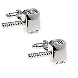 TAILUN Men\'s Wedding Cufflinks Super Hero Cufflinks (Hammer Thor)