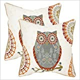 Safavieh Pillows Collection Percy Decorative Pillow, 22-Inch, Gray, Set of 2