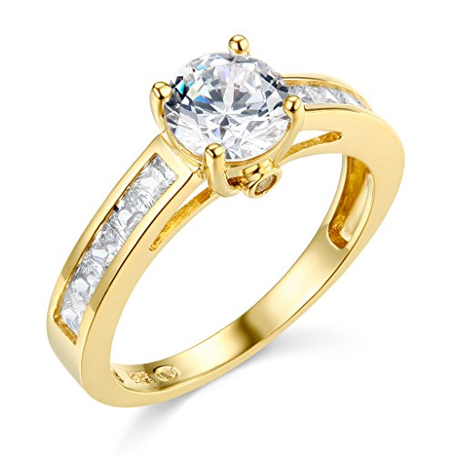 14k Yellow Gold SOLID Wedding Engagement Ring - Size 8