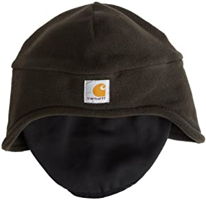 Carhartt Men's Fleece 2 In 1 Headwear, Moss, One Size