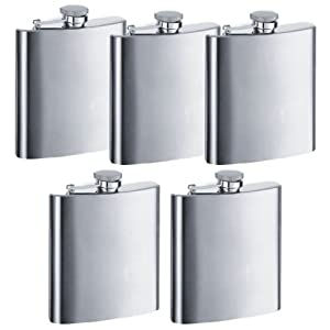 6 oz. Stainless Steel Hip Flask (Pkg. of 5) $12.85