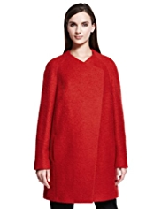 Autograph Bouclé Coat with Wool